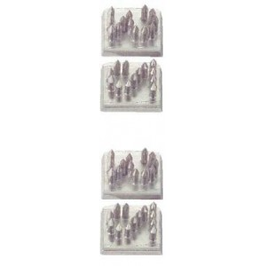 Sada tetovacích číslic 10 mm, vertikální